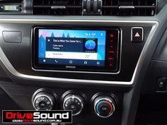 Toyota Corolla with Android Auto installed by DriveSound. Corolla Car, Toyota Corolla, Android Auto, Gps Navigation, Car Audio, Brisbane, Check, Club