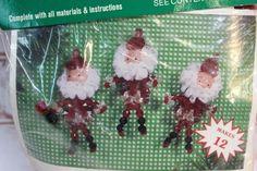 Vintage Merri Mac Beaded Christmas Ornament Kit HOLIDAY TEARDROPS Crystal Clear
