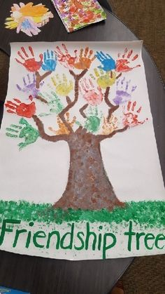 Friendship Tree Handprints Tree FriendsFriendship Tree Handprints Tree friendship friendship Day crafts for 3 year Day handicrafts for 3 year olds preschool kids kids kidscraftsFriendship Tree Friendship Theme Preschool, Friendship Crafts, Friendship Lessons, Friendship Activities, Friend Activities, Preschool Learning Activities, Toddler Activities, Preschool Activities, Toddler Art
