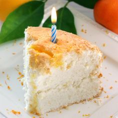 Orange Angel Food Cake - A Guest Post by Liv