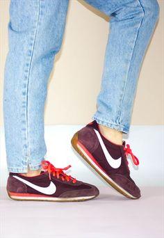 Vintage Nike Cortez Maroon Suede