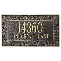 Whitehall Products Pinecone Frame Standard Address Plaque | Wayfair