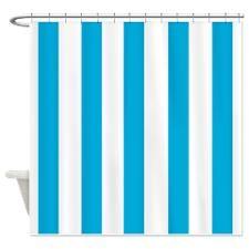 Sea Blue Stripes Shower Curtain