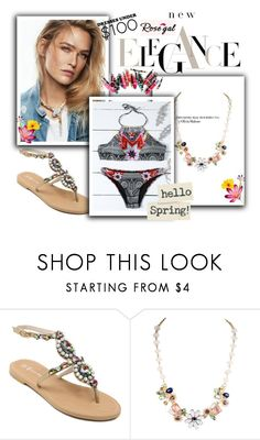 """""""ROSEGAL 19 !"""" by jasmine-monro ❤ liked on Polyvore featuring Clinique, sandals, bikini, necklace and rosegal"""