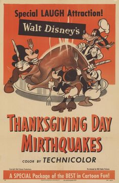 """""""Thanksgiving Day Mirthquakes"""" movie poster"""