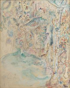The Verandah, 1930. Watercolour & Pencil. David Jones