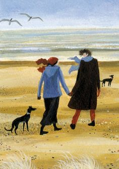 'Taking The Air' By Painter Dee Nickerson. Blank Art Cards By Green Pebble. www.greenpebble.co.uk