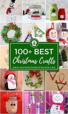 100 Best Christmas Crafts, DIY and Crafts, 100 Best Christmas Crafts Christmas Crafts For Adults, Diy Christmas Gifts, Crafts To Do, Kids Christmas, Holiday Crafts, Christmas Ornaments, Crafts Cheap, Gift Crafts, Spring Crafts