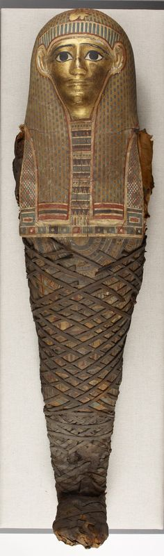 Mummy of a Young Girl, Egyptian, ca. 100 BC.