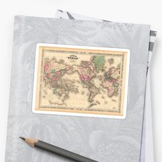 vintage map of the world Vintage World Maps, Phone Cases, Stickers, Artwork, Decor, Work Of Art, Decoration, Auguste Rodin Artwork, Artworks