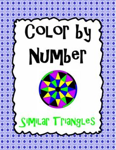 Similar Triangles Color by Number Calculus, Algebra, Similar Triangles, Math Courses, Secondary Math, Math Art, Math Class, Teacher Resources, Geometry