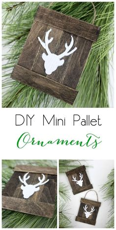 Mini Deer Pallet Ornament Make these DIY rustic pallet ornaments with a few popsicle sticks and some jute string!Make these DIY rustic pallet ornaments with a few popsicle sticks and some jute string! Diy Christmas Ornaments, Diy Christmas Gifts, Christmas Projects, Winter Christmas, All Things Christmas, Holiday Crafts, Christmas Holidays, Christmas Decorations, Reindeer Ornaments