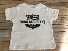 Ring security shirt onesie ring bearer wedding party baby kids child's infant long or short sleeves