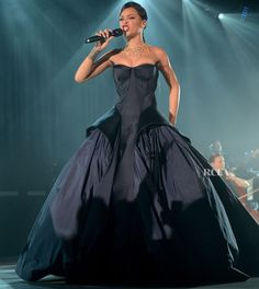 Rihanna In Zac Posen – First Annual Diamond Ball for the Clara Lionel Foundation Performance