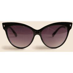 Contessa Cat Eye Sunglasses In Black By A.J. Morgan