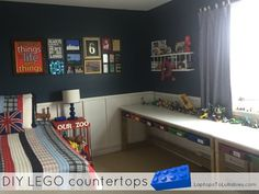 A wonderful storage solution for a LEGO lover's room.