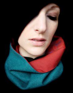 aqua green scarf cowl