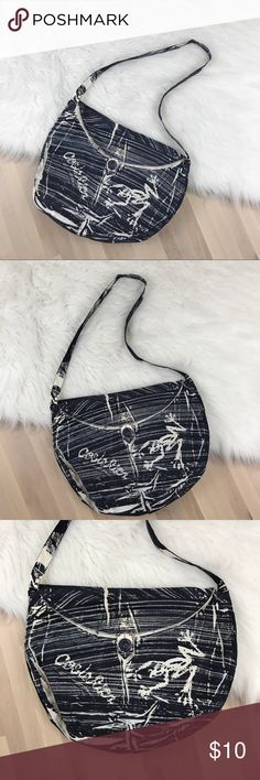 "Costa Rica Cloth Crossbody Bag Navy and cream Costa Rica Cloth bag. Can be worn as Crossbody or shoulder bag. Button closure.   Width: 16"" Height: 12.5""  Excellent condition. Bags Crossbody Bags"