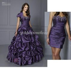 Wholesale 2012 Purple strapless beadings taffeta Bridal Gown Wedding Dress (Removable/dettachable skirt)-12117, Free shipping, $185.23/Piece | DHgate