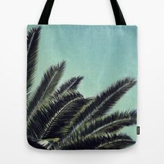 Palms Tote Bag by RichCaspian - $22.00 #palmtrees #nature #blue #tropical #photography #pretty #paradise #island #simple #beach #beachy #summer #texture #palms #society6 #tote #bag #carry #purse #travel #bookbag #shop