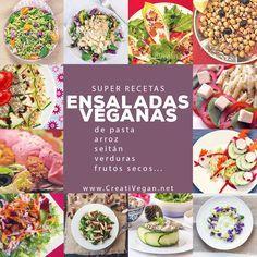 Cómo preparar ensaladas super nutritivas y frescas http://www.cuerpomente.com/blogs/gastronomia-consciente/buenos-consejos-para-preparar-ensaladas-de-verano-muy-nutritivas-y-ricas_638 Y decenas de recetas de ensaladas 100% vegetales: http://www.creativegan.net/archives/category/ensaladas/