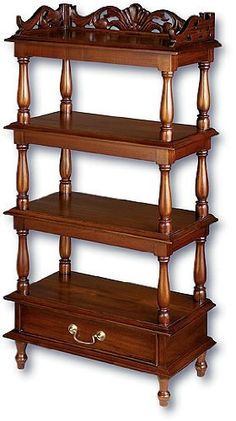 Whatnot Collectors Shelving Antique Edwardian Mahogany Wall Mounted Shelves Antiques Edwardian (1901-1910)