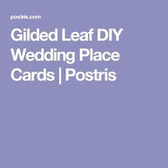 Gilded Leaf DIY Wedding Place Cards | Postris