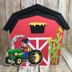 """High Hopes Rubber Stamps """"Bob Loves His Tractor"""" by CheriB Designs"""