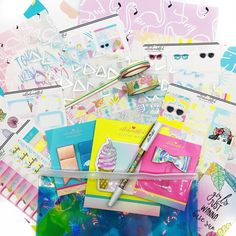 "Trendy stickers, monthly themed planner kits to ""beautiffy your planner"" Sticky Notes, Kit, Stickers, Cool Stuff, June, Decals"