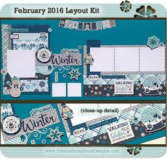 Scrapbook Layout Kit by PremierScrapbookDesigns.com (complete with instructions)