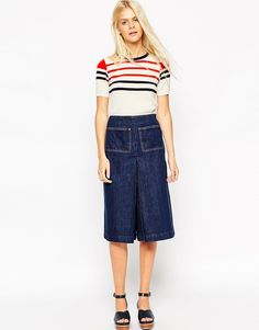 These denim culottes are literally everything, EVERYTHING!