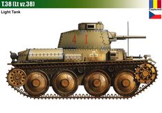 T-38 / Pz.Kpfw 38(t) Panzer Ii, Military Art, Military History, Lend Lease, Armoured Personnel Carrier, Tank Destroyer, Engin, Armored Fighting Vehicle, World Of Tanks