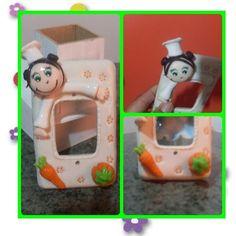 Interruptor de luz decorado em biscuit  ***após a compra informar a marca da placa e enviar a foto para a confecção do produto***