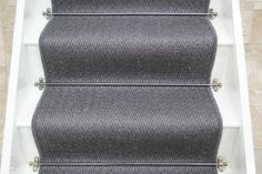 See our exciting wide range of Stair Runners and matching landing pieces from Crucial Trading. Hall Carpet, Carpet Stairs, Sisal Stair Runner, Stairs And Staircase, Staircase Ideas, Grey Runner, Victorian Terrace House, Hallway Flooring, House Entrance