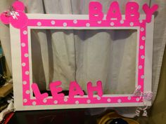 Minnie Mouse baby shower photo booth frame...