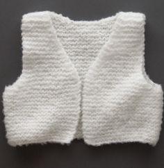 Modèle gilet sans manches bébé - Modèles Gratuits Layette - Phildar