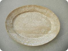 Recycled Noot - Stoneware - Tableware collection - oval plate.