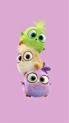 Baby Birds - Tap to see more cute cartoon wallpapers! - @mobile9