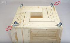 Fabriquer une table basse avec des caisses de vin - Des idées