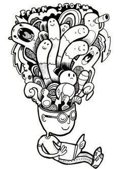 А вы боитесь монстров? А монстриков? Настало время с ними подружиться! Дудлинг монстрики абсолютно не страшные! Да и рисовать их совсем не сложно: главное, что бы каждый персонаж органично вплетался в общий узор рисунка, при этом оставаясь самобытной личностью.