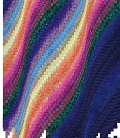 Northern lights quilt idea - add in an actual land area (hills?) so that it's obvious it's the sky...