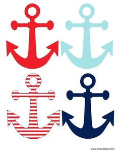 Nautical Party Free Printable Photo Booth props at www.amandakeyt.com Buy the…