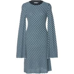 PH5 Kitri Bell Sleeve Dress (8 620 UAH) ❤ liked on Polyvore featuring dresses, stripe, stripe dresses, flared sleeve dress, striped dress, bell sleeve dress and ph5
