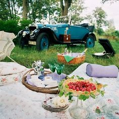 Adore that car.  Foods' great too. To your health, Salude, Slange,Cheers, Bottoms Up.......................