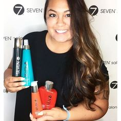 There are two things that makes us happy in this photo, the beautiful work by our latest graduate from the SEVEN advance training program @tiffaniatseven and the joy that radiates from her client's face #yournewSEVEN #SEVENwins