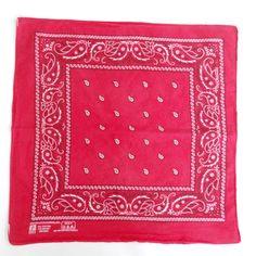 Vintage Red Bandanna Paisley  Paris by HazeyJaneVintage on Etsy
