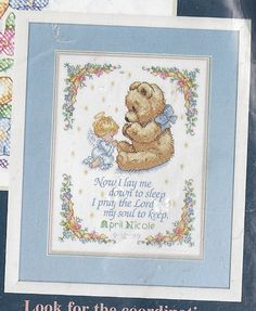 Sweet Prayer Quilt Stamped Cross Stitch Lap Kit New Sealed Embroidery