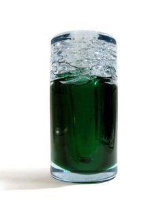 Skrdlovice Frantisek Vizner 7411 -- beer froth top glass vase -- rare colourway -- Czech art glass