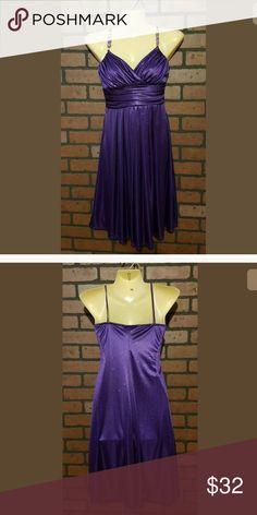 Blue dress size 4 hip