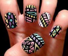 Aztec Nail Designs, Aztec Nail Art, Tribal Nails, Creative Nail Designs, Simple Nail Art Designs, Creative Nails, Cute Toenail Designs, Trendy Nail Art, Easy Nail Art